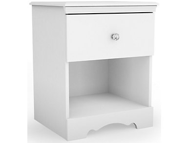 Crystal 1-Drawer Nightstand, , large