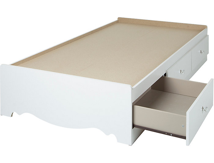 Crystal Twin White Mates Bed, , large