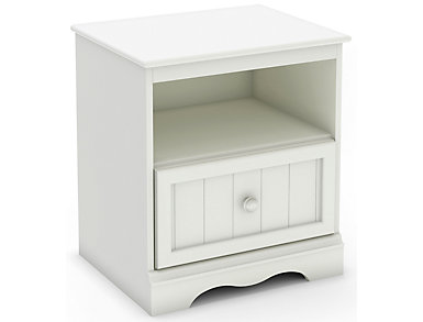 Savannah White Nightstand, , large