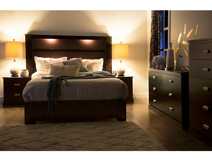 Gloria Brown King Headboard, , large