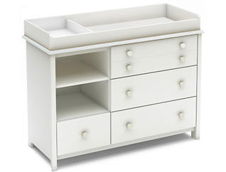 Smileys White Changing Table, , large