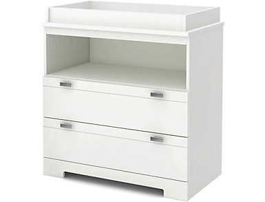 Reevo White Changing Table, , large