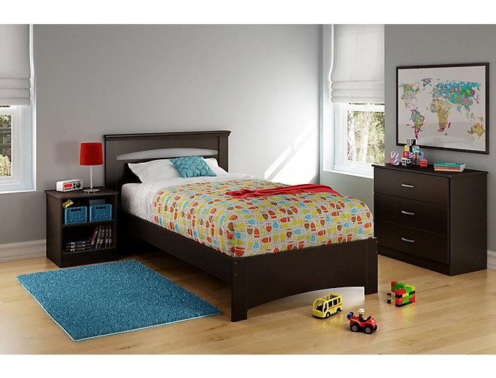 Libra Chocolate Twin Bed, , large