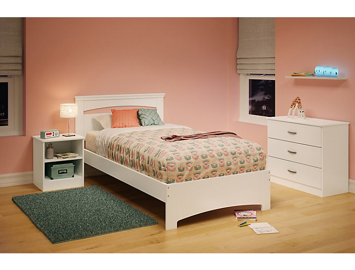 Libra White Twin Bed, , large