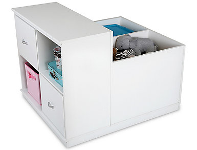 Mobby White Storage Unit, , large