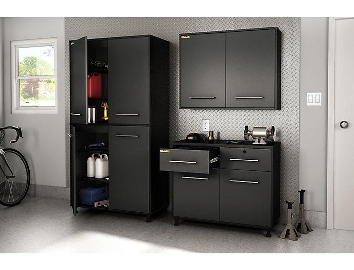 Zari Wall Storage Cabinet Black