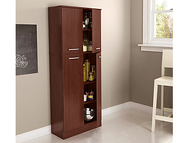 Axess Cherry Storage Pantry, Brown, large