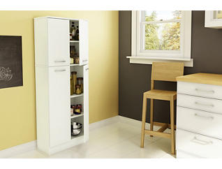 Axess White Storage Pantry, , large