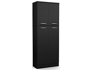 Axess Black Storage Pantry, , large