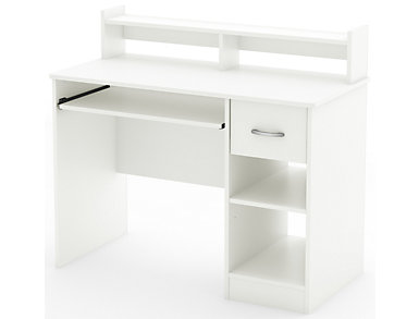 Axess III White Desk, , large