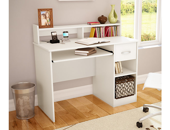 Axess III White Desk, , large