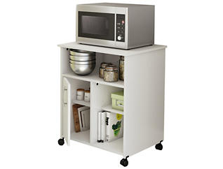 Axess White Microwave Cart, , large
