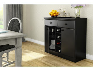 Morgan Pure Black Sideboard, , large