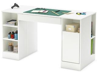 Crea White Craft Table, , large