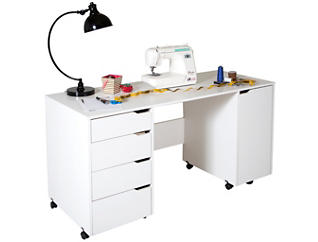 Crea White Sewing Table, , large