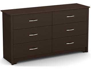 Fusion Brown 6-Drawer Dresser, , large