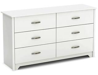 Fusion White 6-Drawer Dresser, , large
