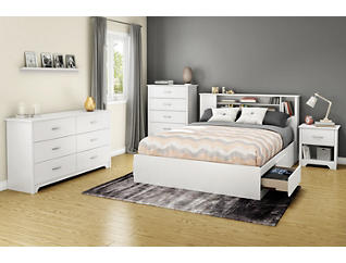 Fusion White Queen Headboard, , large