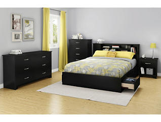 Fusion Queen Black Headboard, , large