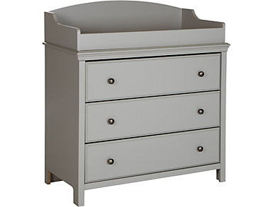 Cotton Gray Changing Table, , large