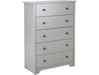Vito Gray 5-Drawer Chest, , large