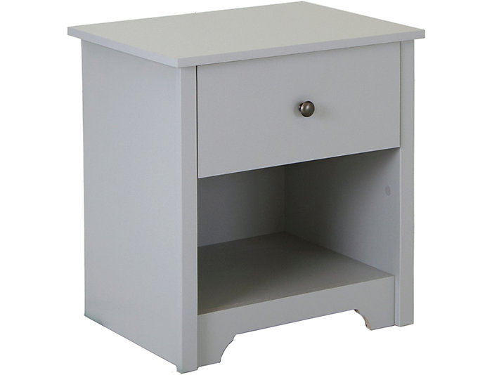Vito Gray 1-Drawer Nightstand, , large