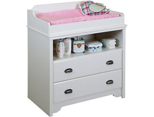 Fundy White Changing Table, , large