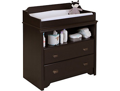Fundy Espresso Changing Table, , large