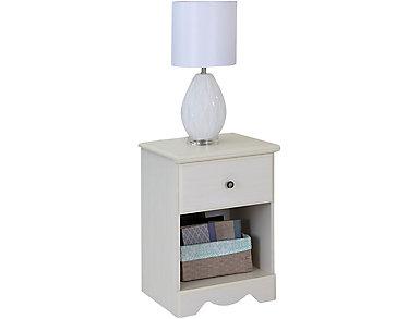 White Wash Nightstand, , large