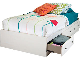 Country Poetry Twin White Bed, , large