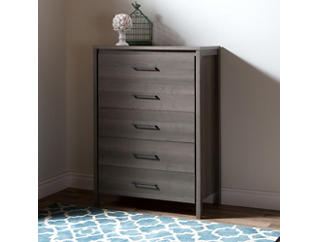 Gravity Gray 5 Drawer Chest, , large