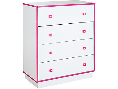 Logik White & Pink Chest, , large