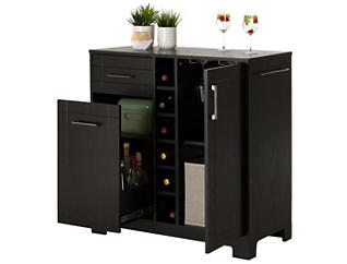 Vietti Black Oak Bar Cabinet, , large