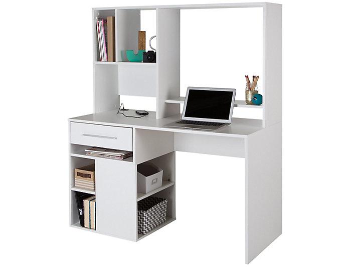 Annexe White Computer Desk, , large