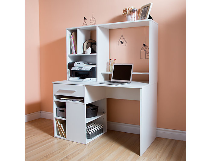 Annexe White Computer Desk, , large