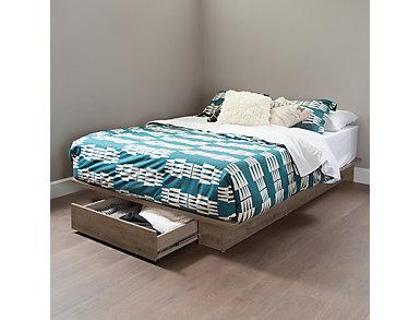 Holland Queen Oak Platform Bed, , large