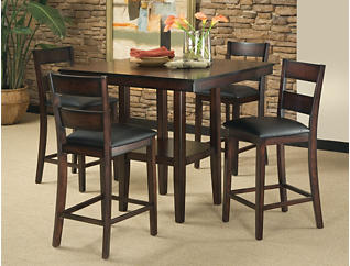 Pendleton Espresso 5 Piece Gathering Table Set, Dark Brown, large