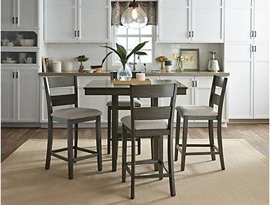 Pendleton Grey Gathering Table and 4 Stools, , large