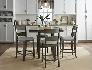 Pendleton Gathering Table and Stools, Grey, large