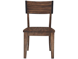 Nelson Rustic Brown Square Back Chair, , large