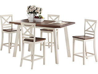 Amelia Counter Table & 4 Stool, , large