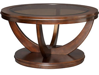 La Jolla Round Coffee Table, Brown, , large