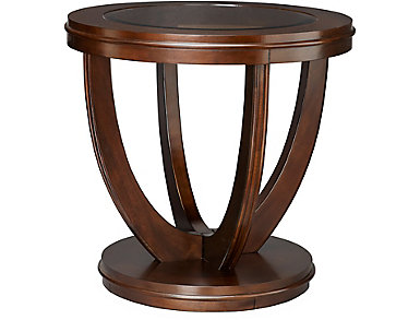 La Jolla Round End Table, Brown, , large