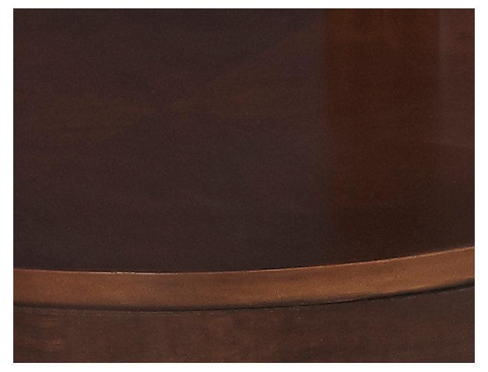Coronado Round End Table, Brown, , large