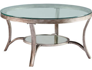 Cole Round Coffee Table, Grey, , large