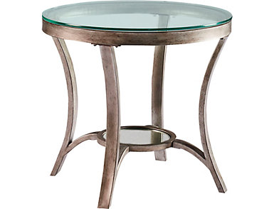 Cole Round End Table, Grey, , large