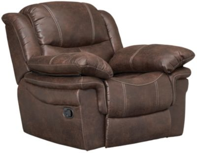 Huxford Glider Recliner, Chocolate Brown, Brown, swatch