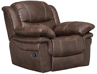 Huxford Glider Recliner, Coffee, , large
