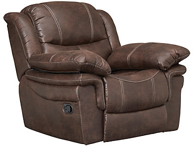 Huxford Glider Recliner, Coffee, Coffee, large