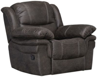 Huxford Glider Recliner, Chocolate Brown, Grey, swatch